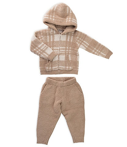 Barefoot Dreams Toddler 2-5 Cozy Chic Toddler Plaid Zip Front Hoodie & Lounge Pant Set