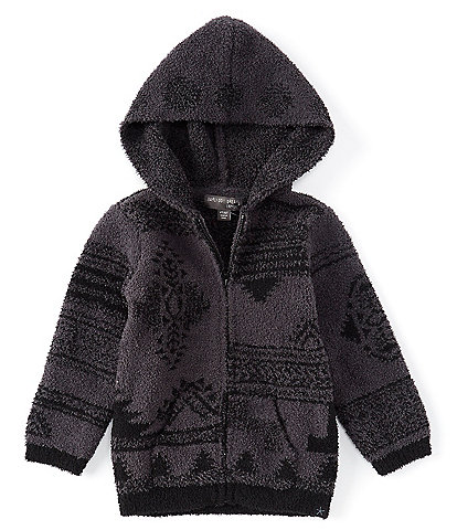 Barefoot Dreams Toddler 2-5 Patchwork Print Hooded CozyChic Jacket