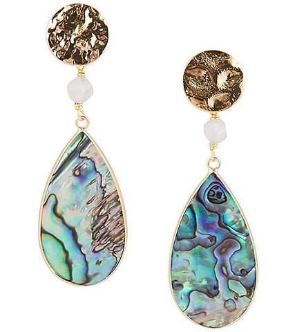 Barse Abalone Statement Earrings