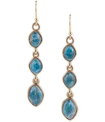 Barse Bronze and Apatite Drop Earrings