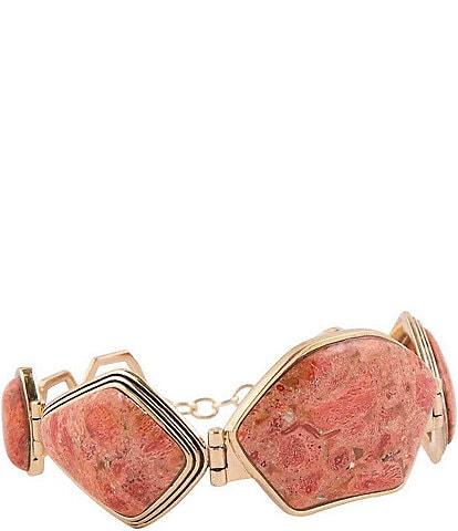 Barse Bronze and Orange Sponge Coral Toggle Bracelet