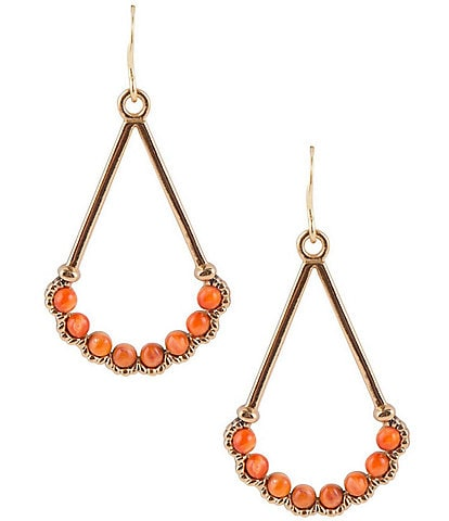 Barse Bronze and Spiny Oyster Shell Drop Earrings