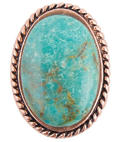 Barse Copper and Genuine Turquoise Statement Ring