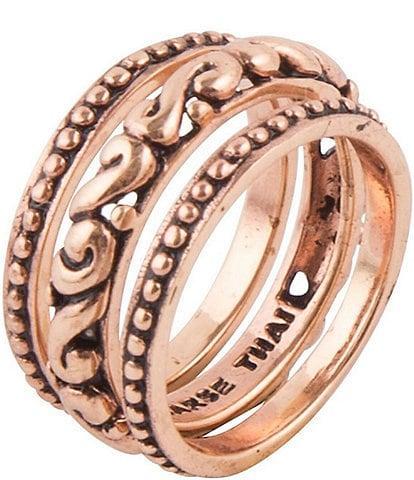 Barse Copper Three Piece Stack Ring
