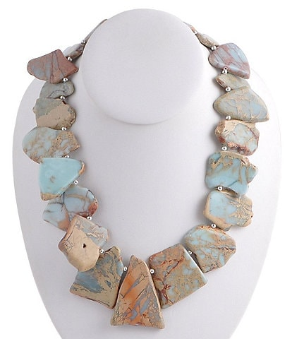 Barse Jasper Slabs Statement Necklace