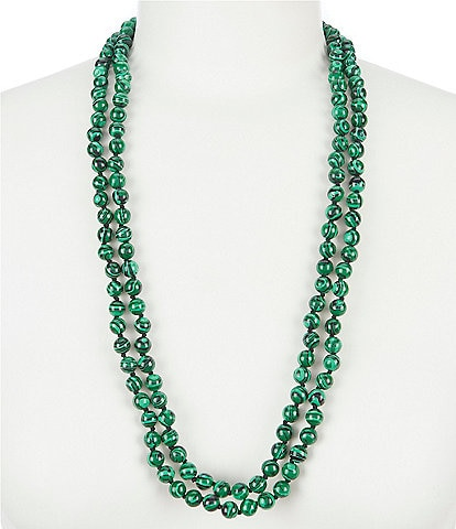 Barse Malachite Endless Necklace