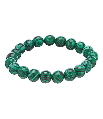 Barse Malachite Stretch Bracelet