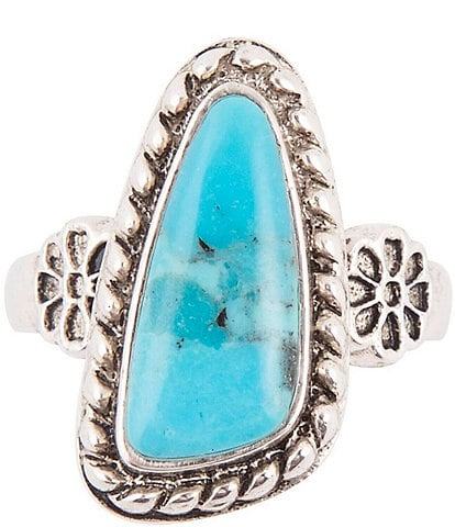 Barse Ring Sterling Silver and Genuine Turquoise Ring
