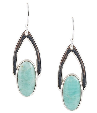 Barse Sterling Silver and Amazonite Drop Earrings