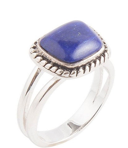 Barse Sterling Silver and Genuine Lapis Ring