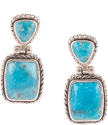 Barse Sterling Silver and Genuine Turquoise Earrings