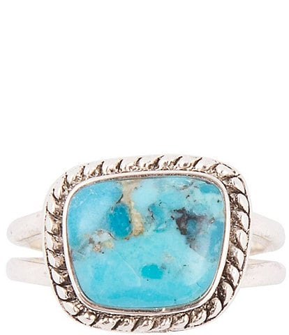 Barse Sterling Silver and Genuine Turquoise Ring