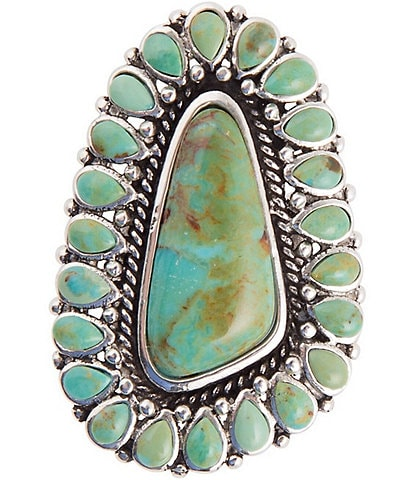 Barse Sterling Silver and Genuine Turquoise Statement Ring