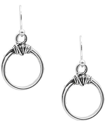 Barse Sterling Silver Top Knot Hoop Earrings