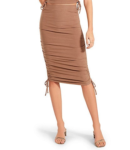 BB Dakota by Steve Madden Cinch by Cinch Side Ruched Knit Coordinating Skirt
