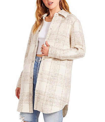 BB Dakota by Steve Madden For The Road Point Collar Snap Front Shirt Jacket