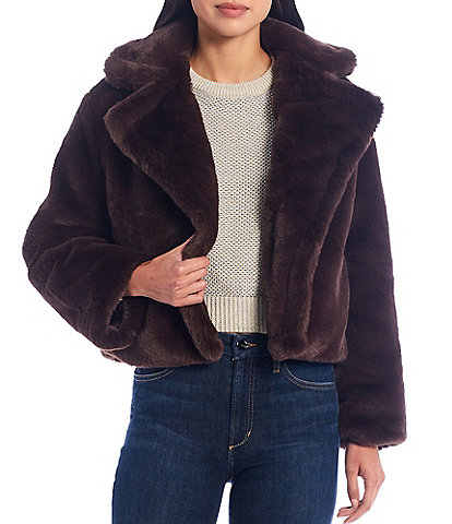 BB Dakota X Steve Madden Big Time Plush Faux Fur Jacket