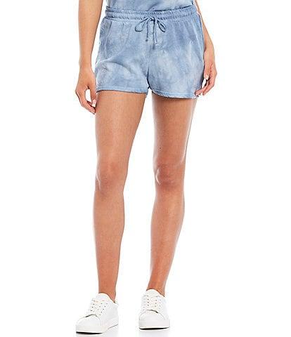 BB Dakota by Steve Madden Tie Dye Coordinating Mid Rise Drawstring Lounge Shorts