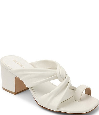 BCBGeneration Dextar Leather Toe Loop Slide Sandals