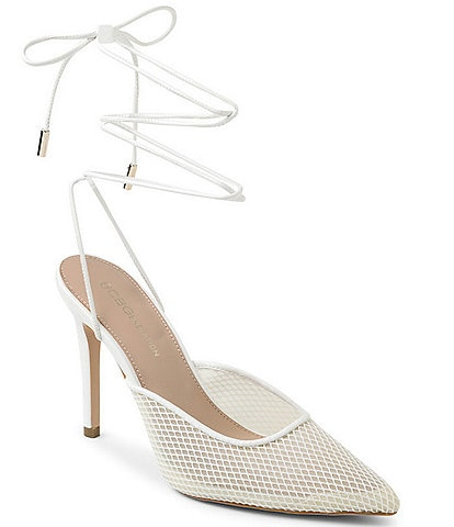 BCBGeneration Hendri Fish Net Ankle Strap Pumps