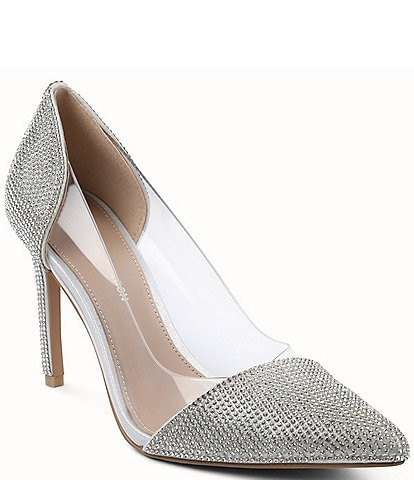 BCBGeneration Lania 2 Clear Rhinestone Pumps