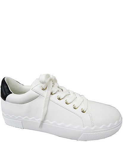 BCBGeneration Lanie Scalloped Lace-Up Sneakers