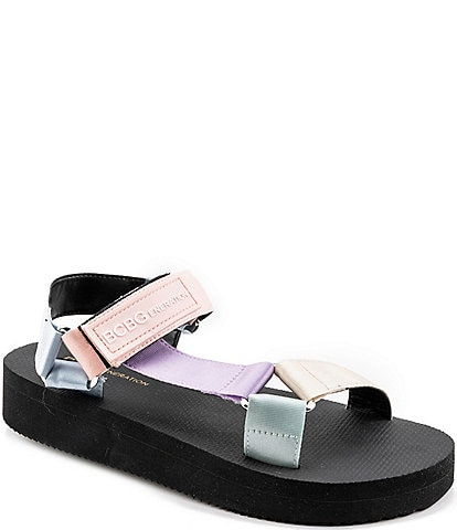 BCBGeneration Parna 2 Pastel Colorblock Platform Sandals