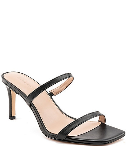 BCBGeneration Salin Leather Slide Dress Sandals