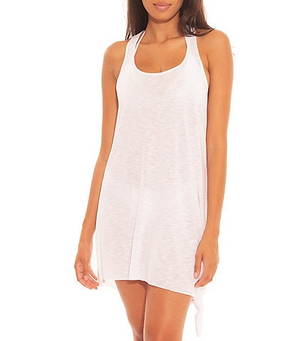 Becca by Rebecca Virtue Breezy Basics Scoop Neck Knot Front Cover Up Dress