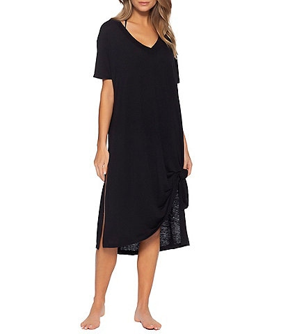 Becca by Rebecca Virtue Beach Date Oversized Swim Cover Up T-Shirt Dress