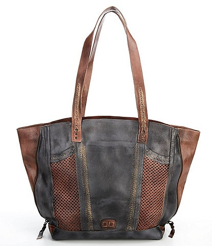 Bed Stu Amelie Tanned Perforated Leather Tote Bag