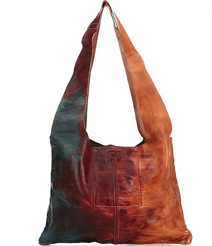 Bed Stu Ariel Tie Dyed Leather Hobo Bag