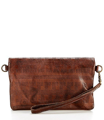 Bed Stu Bayshore Multifunction Perforated Leather Crossbody Bag