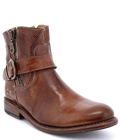 Bed Stu Becca Leather Block Heel Booties