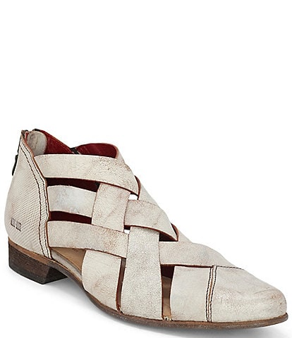 Bed Stu Brittany Leather Woven Band Shooties