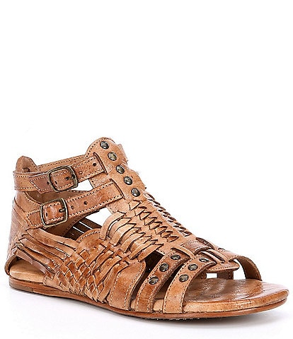 Bed Stu Claire Distressed Leather Flat Sandals