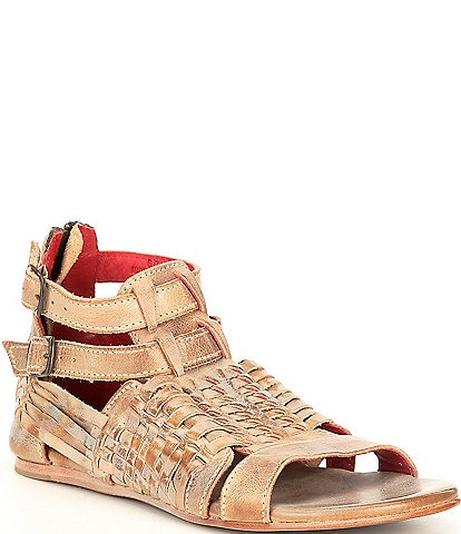 Bed Stu Claire Leather Flat Sandals