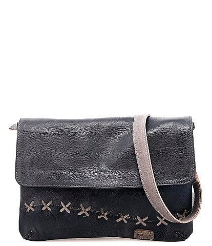 Bed Stu Cleo Tanned Leather Stitch Crossbody Bag