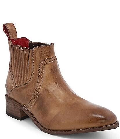 Bed Stu Ellice Leather Chelsea Block Heel Booties