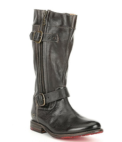 Bed Stu Gogo Lug Double Zip Strap Harness Detail Boots