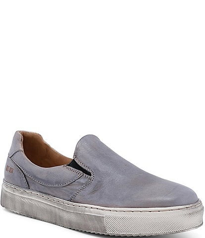 Bed Stu Hermione Leather Distressed Slip On Sneakers