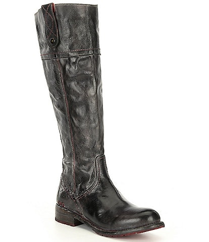 Bed Stu Jacqueline Leather Tall Block Heel Boots