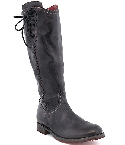 Bed Stu Janina Tall Leather Block Heel Boots
