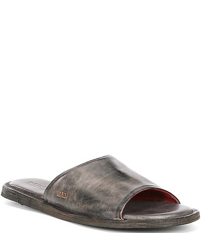 Bed Stu Kate Tanned Leather Flat Slide Sandals