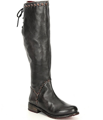 Bed Stu Manchester III Leather Block Heel Boots