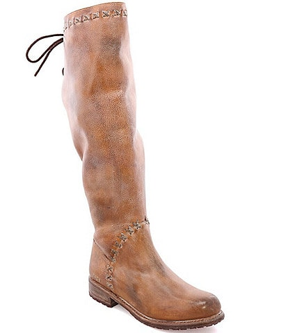 Bed Stu Manchester III Tall Leather Block Heel Boots