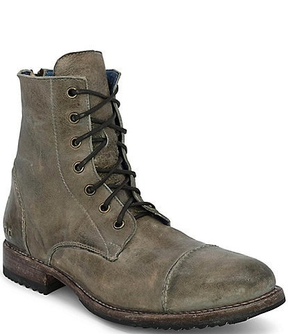 Bed Stu Men's Protege Distressed Leather Cap Toe Combat Boots