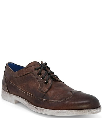 Bed Stu Men's Sandro Leather Distressed Sole Lace-Up Oxfords