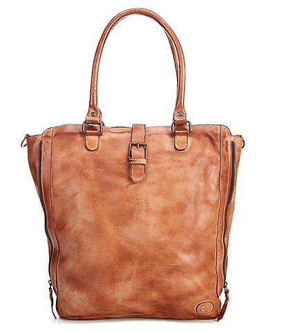 Bed Stu Mildred North South Leather Zip Tote Bag