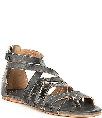 Bed Stu Miya Leather Banded Toe Ring Sandals